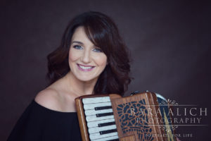 Professional Headshot Photosession in Waterford - Musician with accordion